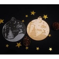 Boule de Noël Sapin et renne 2
