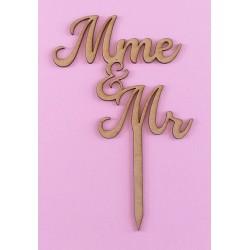 Cake Topper Mme Mr